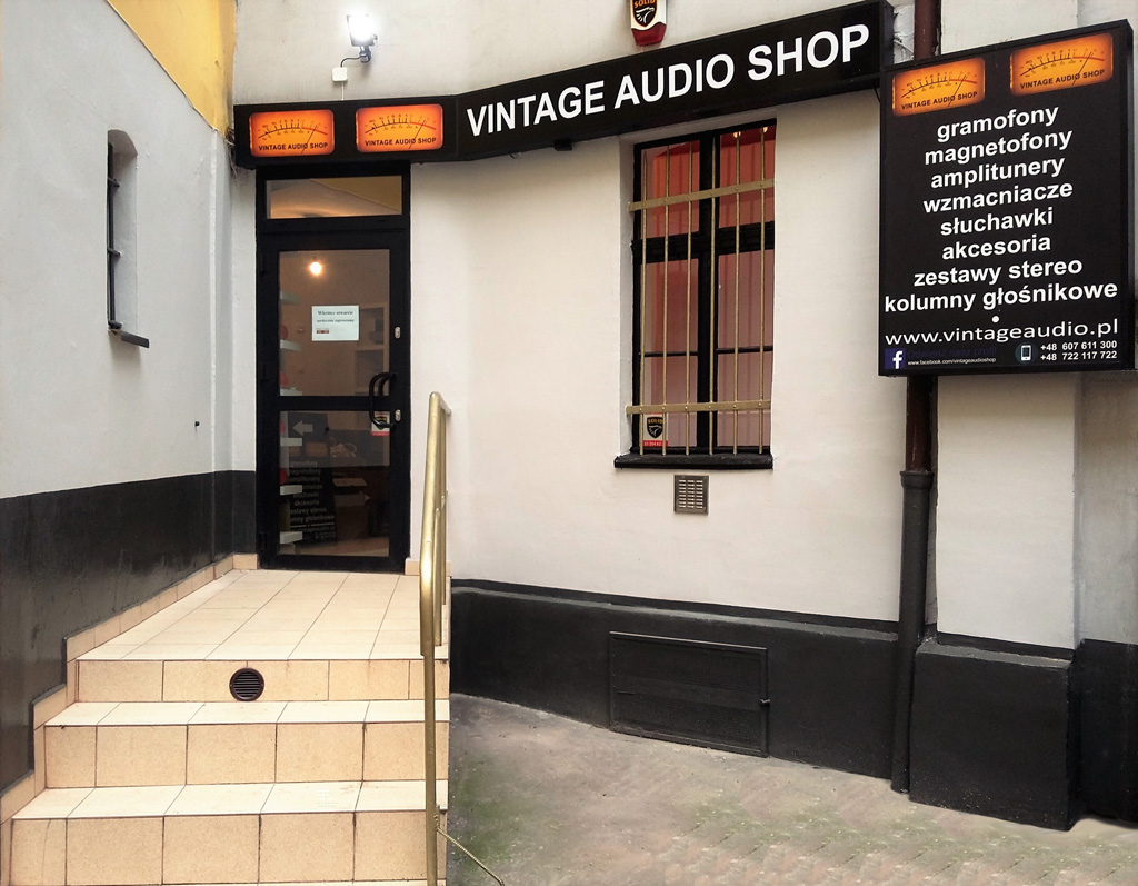 Vintage Audio Shop front